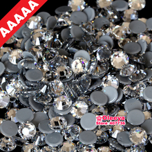 AAAAA Best Quality Clear Hot Fix Rhinestone All Size More Shiny Super Bright Hotfix Iron On Stones For Motif Designs Y2791