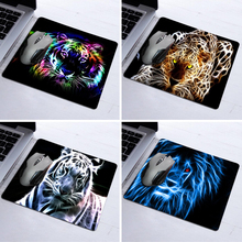 2016 Real New Mousepad Tapis De Souris Animal Neon Tiger Outline Design Anti-slip Computer Mouse Pad Durable Rubber Custom Mat