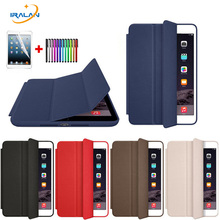Case For Apple New iPad 9.7 2017 Original Tri-fold smart Ultra Slim PU Leather Cover for iPad 2017 9.7 A1822+Screen film+stylus(China)