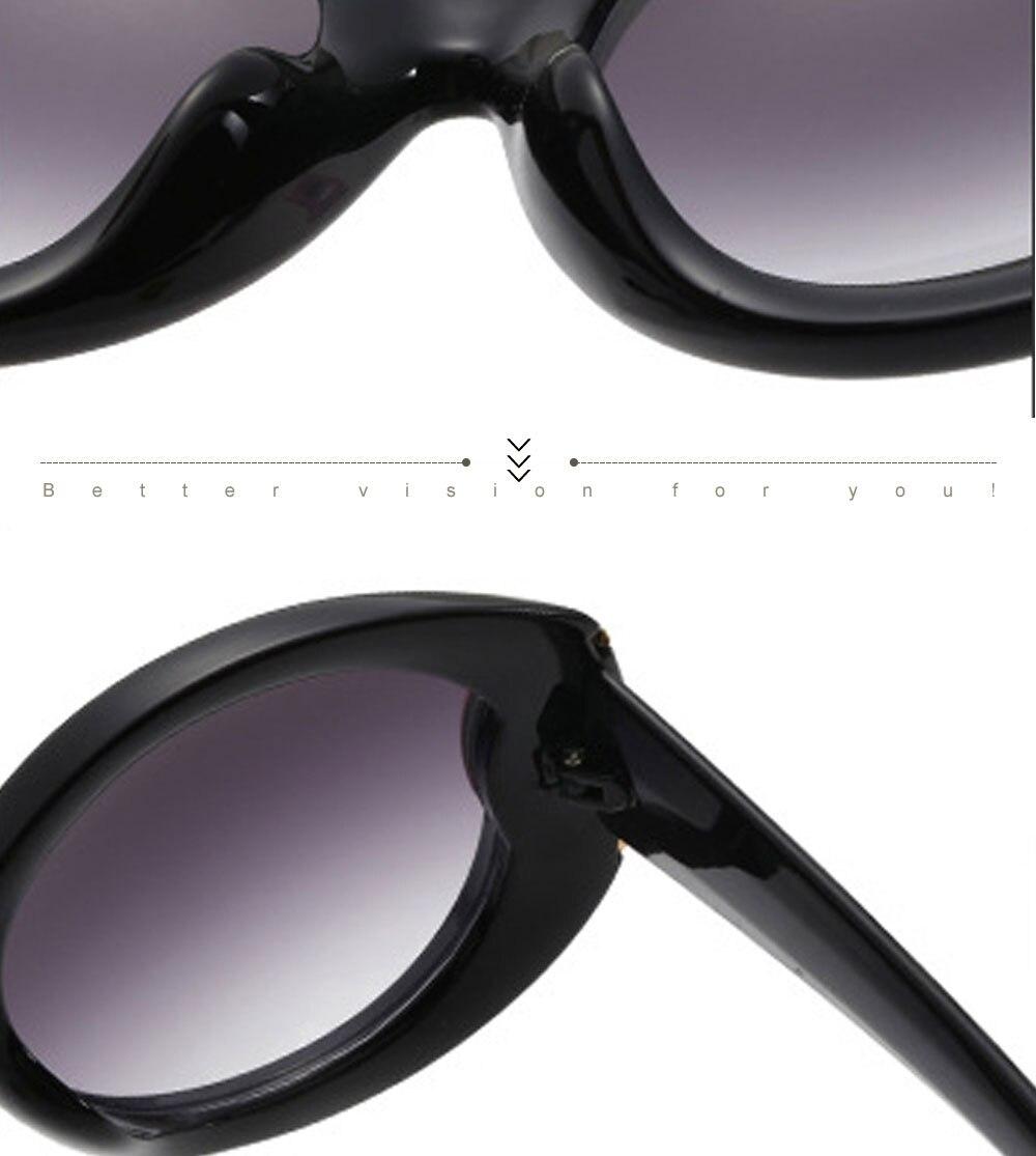 VEGA Eyewear Fashion Oval Sunglasses Women for Big Face Ladies Oversized Glasses with  (