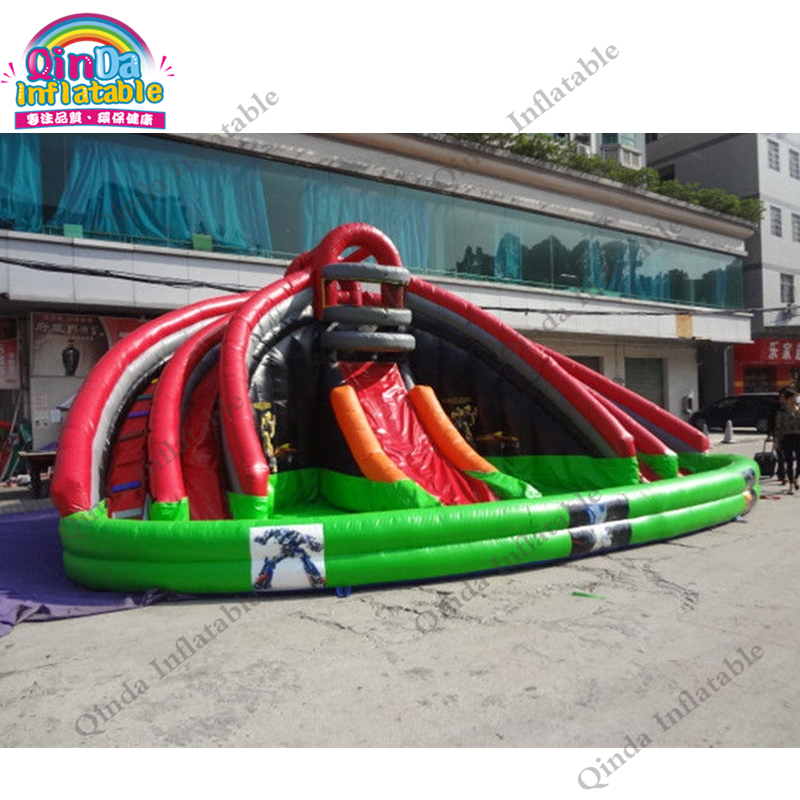 inflatable water slide with pool98