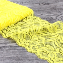 10yards 15cm Wide Yellow Tulle Lace Ribbon Trim Headband For Women Elastic Lace Stretch for Baby Girls Hair Accessories