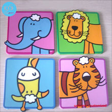New creative cute animal coasters / soft rubber pad PVC insulation mat free shipping only welcome customer design(China)