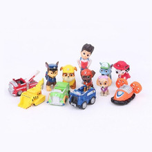 12pcs/set Canine Patrol Dog Toy Cars Patrol Puppy Russian Anime Doll Figures Patrulla Canina Juguetes Toys for Children Gifts