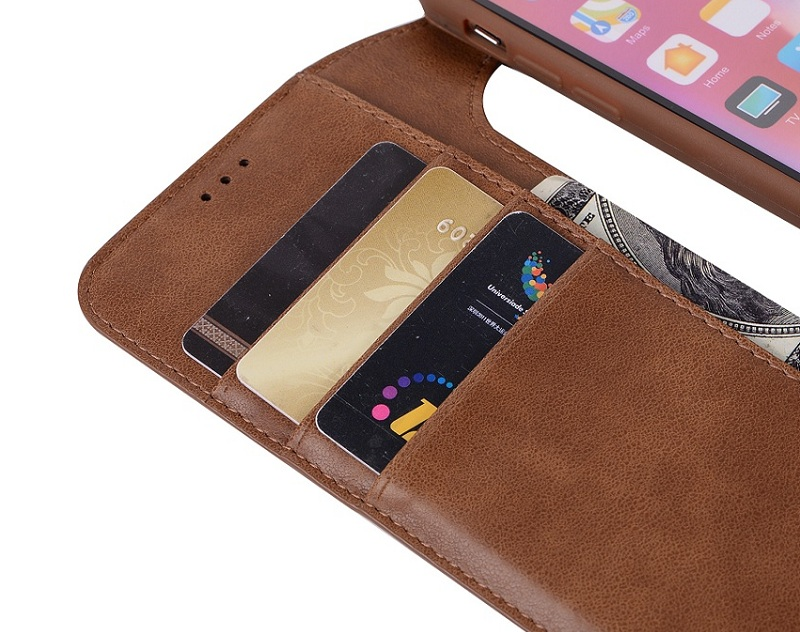 genuine leather flip wallet case for iPhone x luxury card cover