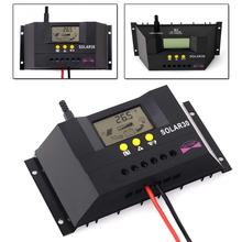 3PCS 30A 12/24V Solar Controller Regulator Charge Battery Safe Protection with CE & RoHS LCD auto Wind Solar hybrid solar 12V