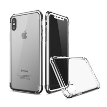 Buy Clear Back Case Apple iPhone X Slim Cover Soft PC Back+TPU Bumper Corner Cushion Shockproof Phone Case Shell iPhoneX for $2.63 in AliExpress store