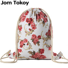 National Women Canvas Drawstring Backpack Newest Vintage College Students School Bagpack Girls Mochila Feminina  Sack Bags
