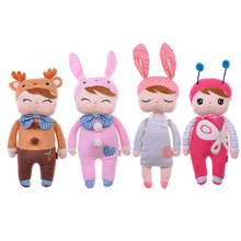 Cartoon Grey Angela Bunny Rabbit Doll Toys Baby Plush Toys For Children Birthday Christmas Gifts Metoo Doll Brinquedos(China)