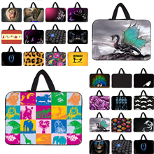 Xmas Gift 2016 Duo Zipper Laptop Sleeve Bag 7 10 12 13 14 15 17 Computer Accessories Notebook PC Handle Neoprene Bag Carry Cases