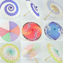 50pcs/lot 30cm 12inch Kids Size Mini Japanese Hand Painting Paper Umbrella Craft Parasol Dancing Prop Room Decoration ZA4247
