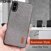 MOFi case for iphonex case cover silicone edge shockproof men business for apple x iphone x back cover for iphonex iphone x case(China)