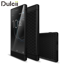 Case for Sony Xperia XA1 Silicone Cases Geometric Hexagon Design Carbon Fiber Phone Accessories Cover for for Xperia XA1 Capas
