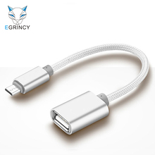 EGRINCY OTG Adapter Micro USB To USB 2.0 Converter OTG Cable For Android Galaxy S3/4 S5 Xiaomi Tablet Pc To Flash Mouse Keyboard