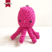 wholesale high quality rose octopus dog pet toy cotton rope toy dog rope toy DRT-018(China)
