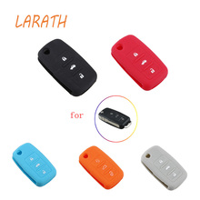 LARATH Silicone Car Key Cover Case For Volkswagen Folding Key Fob Protective Case For Vw Passat Polo Beetle Bora Touran Touareg
