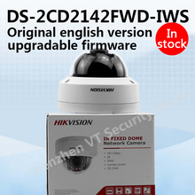 In stock original english version DS-2CD2142FWD-IWS 4MP WDR Fixed Dome WIFI Network Camera 120dB Wide Dynamic Range with aduio(China)