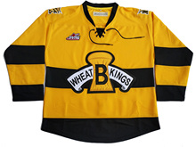 Custom Brandon Wheat Kings With your name and number Stitched Yellow Hockey Jersey