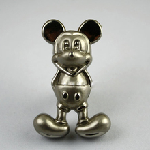 10pcs Silver Mickey Mouse Knobs Wardrobe Dresser Pulls and Modern Furniture Kitchen Cabinet Baby Bedroom Cabinet Pull(China)
