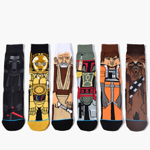 New Arrival Cartoon Jacquard Men Autumn Winter Character Men Crew Socks Cotton Novel Skateboard Tube Socks Men Women