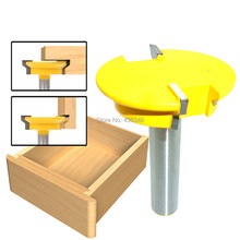 "1/2'' Shank Drawer Lock Joint Router Bit Woodworking Drill Bit Milling Cutter Cutting Length 1/2"" Carbide Woodwork Tenon Cutters"