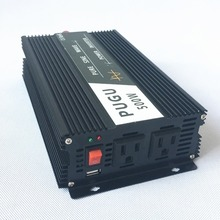 Car Power Inverter Full Power 500W Peak Power 1000W Pure Sine Wave 12V/24V/48V DC to 100V/110V/120V AC 60HZ Off Grid USB Port(China)