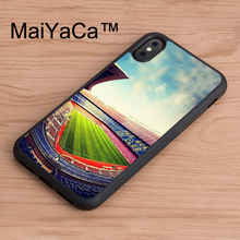 MaiYaCa Barcelona Spain Estadio Camp Nou Original phone Case for iPhone X Mobile Phone Back Shell for iPhone X TPU Soft Case(China)