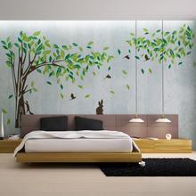Extra Large 215 * 395 cm big green tree Vinyl Wall Stickers Wall Stickers home living room wall decoration wall poster vinyls(China)
