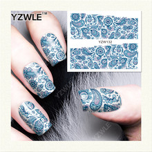 YZWLE 1 Sheet DIY Decals Nails Art Water Transfer Printing Stickers Accessories For Manicure Salon (YZW-132)