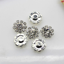 HOT 10PCS/LOT 12MM Round Rhinestone button Crystal Buttons DIY Wedding Invitation gail hair Flower Accessory
