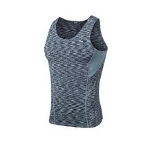 Multi Color Gray Running T shirt GYM Sportswear Wicking Shirts Top Men Training Vest Sleeveless Fitness Tight Quick Dry Shirt(China)