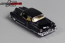 New arrive 1pc 1:43 12.5cm KINSMART mini black Cadillac 1953 bubble simulation model alloy car pull back home decoration toy(China)