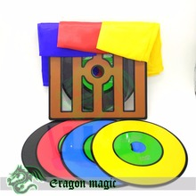 Professional Disk Chameleon Free Shipping Fast Color Change Stage Magic Tricks Toys Props(China)