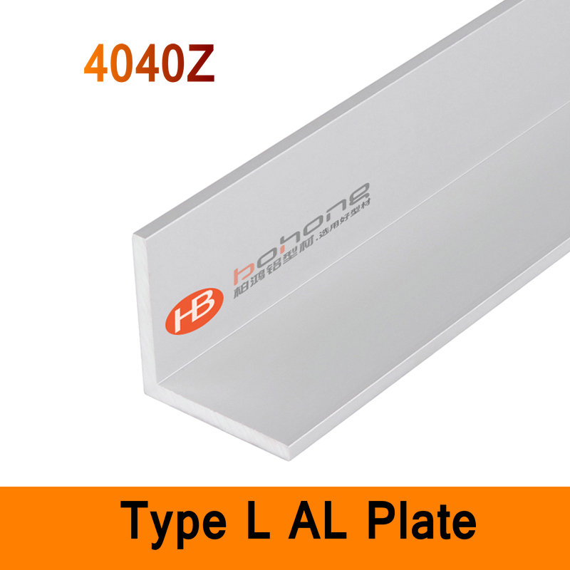 4040Z Type L Aluminium Profile Long Angle Plate 4mm Wall DIY Brackets AL 3D DIY Printer Frame Metal Connector Sheet Workbench<br>