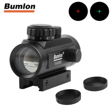 Tactical 1x40 Green Red Dot Sight Scope Optics Holographic Sight Hunting Shooting Air Rifle Airsoft w/ 11mm 20mm Mount HT5-0003(China)