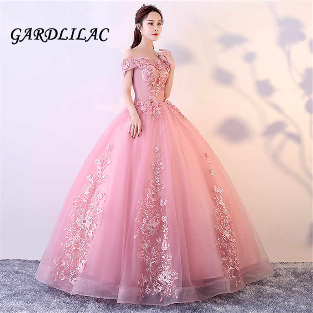 c0dae4ccb55 Detail Feedback Questions about Cameo Red Long Prom Dress 2019 Off The  Shoulder Ball Gown Tulle Lace Appliques Masquerade Sweet 16 Dresses Wedding  Party ...