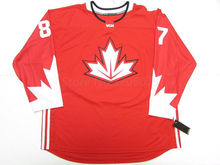 #87 SIDNEY CROSBY TEAM CANADA RED HOCKEY JERSEY Mens Embroidery Stitched Customize any number and name Jerseys(China)