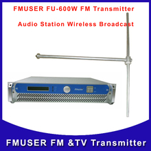 FMUSER FU-600A 600W 600Watts Transmitter FM Radio Broadcast Station with FU-DV1 Antenna A KIT(China)