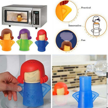 Cute Microwave Cleaning Tools 2017 Hot New Angry Mama Microwave Cleaner Cooking Kitchen Gadget Tools With Package