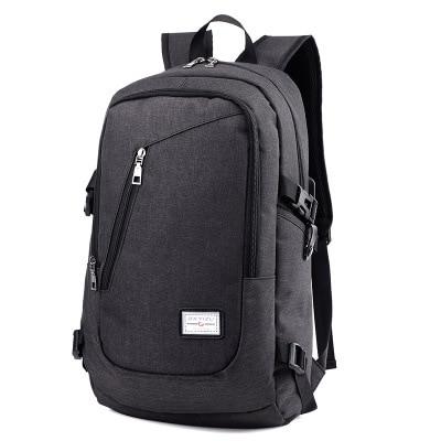 2017Unisex Men &amp; Women Office Laptop Backpacks Waterproof Charger Hole Campus Bags Mochilas Escolares Laptop Computer School bag<br><br>Aliexpress