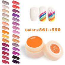 5ml canni color nail gel paint uv gel nail polish manicure nail art 141 color nail lacquer varnish coat cheap fast dry color gel