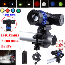 C3 Bicycle Bike Head Light Torch Flashlight 4 Colors Charger Battery  XML T6 LED 3Modes 18650 High Strength Long Service Life