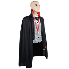 men vampire costume cloak cape scary party carnival halloween costume adult midnight count dracula gothic cosplay