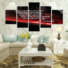 good sales 5 pieces high definition print about firemen police wall art living room picture for home decoration(China)