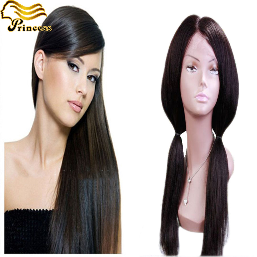 Full Lace Human Hair Wigs Brazilian Virgin Hair Yaki Straight Full Lace Wigs For Black Women Full Lace Front Wigs With Baby Hair<br><br>Aliexpress