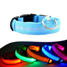Night Safety LED Dogs Collar,Nalon Lights Flashing Glow In Dark Electric Pet Coolars,7Colors Pet Supplies Dog Cat Leash