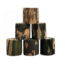 6 Rolls Self-adhesive Non-woven 5cmx4.5m Camouflage Wrap Rifle Hunting Shooting Cycling Tape Waterproof Camo Stealth Tape(China)