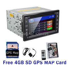 GPS Navigation 6.2 Inch Bluetooth BT Phone Call Music Car DVD Player 2 DIN In Dash MP3 MP4 Video CD Stereo TV Radio USB SD Map(China)