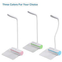 USB Rechargeable LED Desk lamp With Fluorescent Message Board Touch switch 3 Level Brightness Flexible LED Table Reading lamp(China)