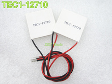 2pcs Wholesale-New 100W TEC1-12710 DC12V 10A Thermoelectric Cooler Peltier 40*40*3.6MM Best prices +Free Shipping! TEC1 12710